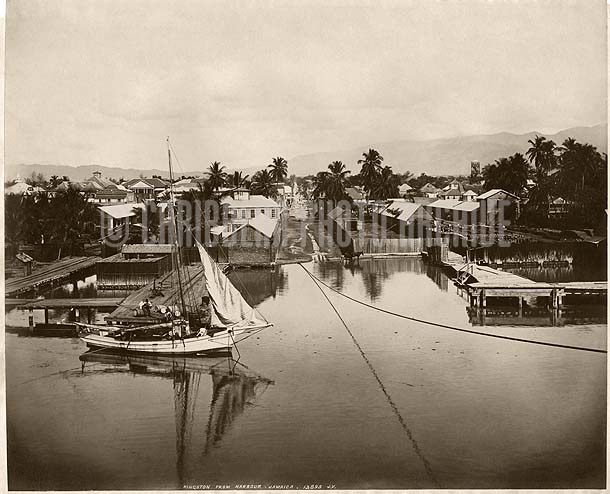 Kingston from the Harbor, Jamaica, 1880c Photo by James Valentine & Sons of Dundee, Scotland