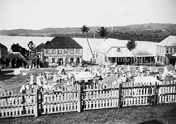 Outdoor Market, Barbados, c1880