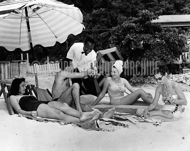 Doctor's Cave Beach, Montego Bay, Jamaica, 1950