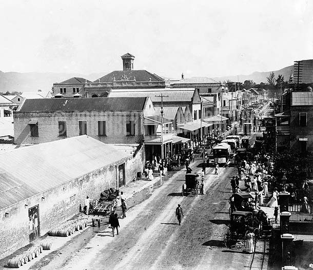 King Street, Kingston, Jamaica, 1890. Photo by J.W. Cleary