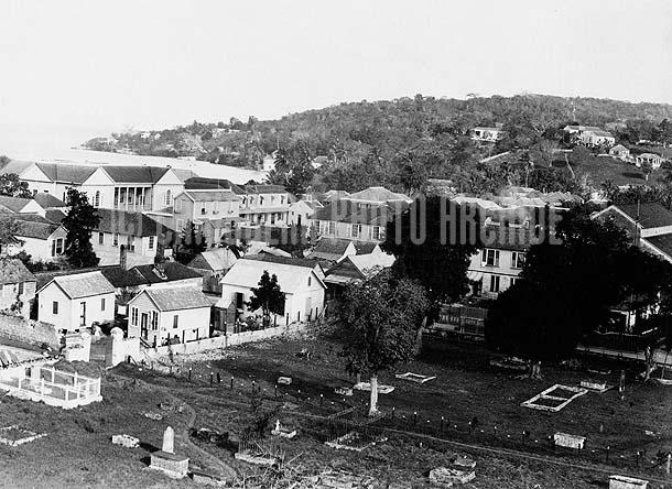 Montego Bay From Church Tower, Jamaica, 1891. Photo by James Valentine & Sons