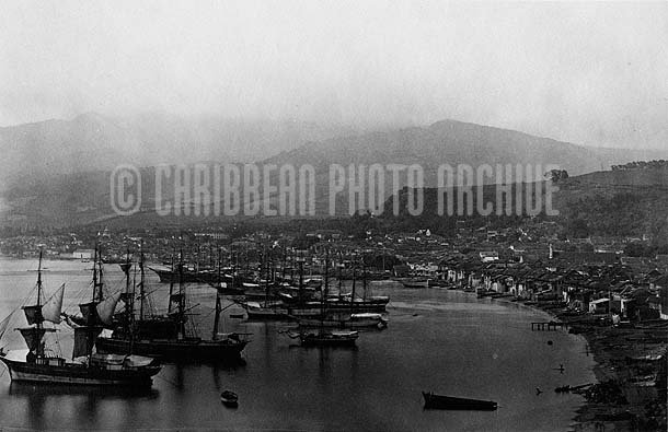 Port of Spain,Trinidad, 1890, Photograph by Felix Morin
